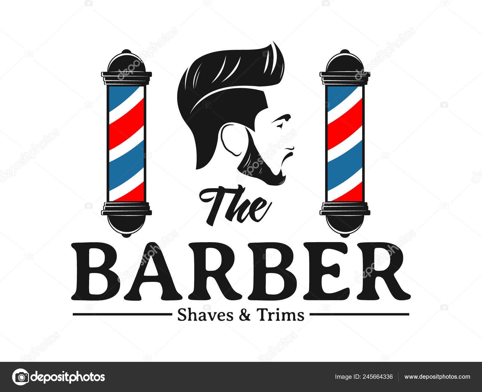 Men Barbershop Hairstylist Banner Logo Badge Vector Design Template Stock Vector C Great19 245664336