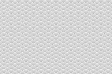 Abstract vector seamless of scales. White vector scale pattern. Background consisting of white hexagons.