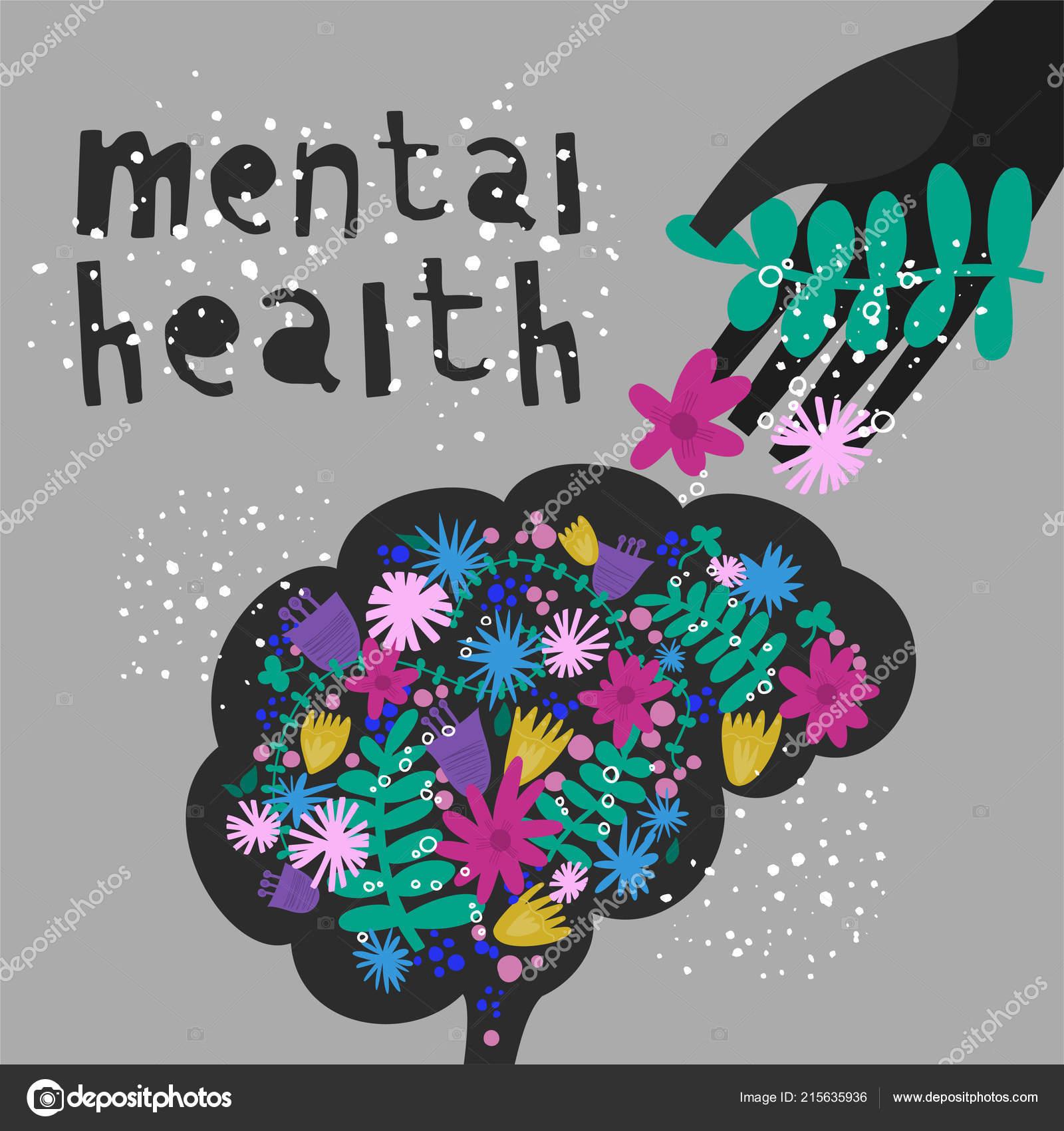 Mental health. Vector illustration \u2014 Stock Vector