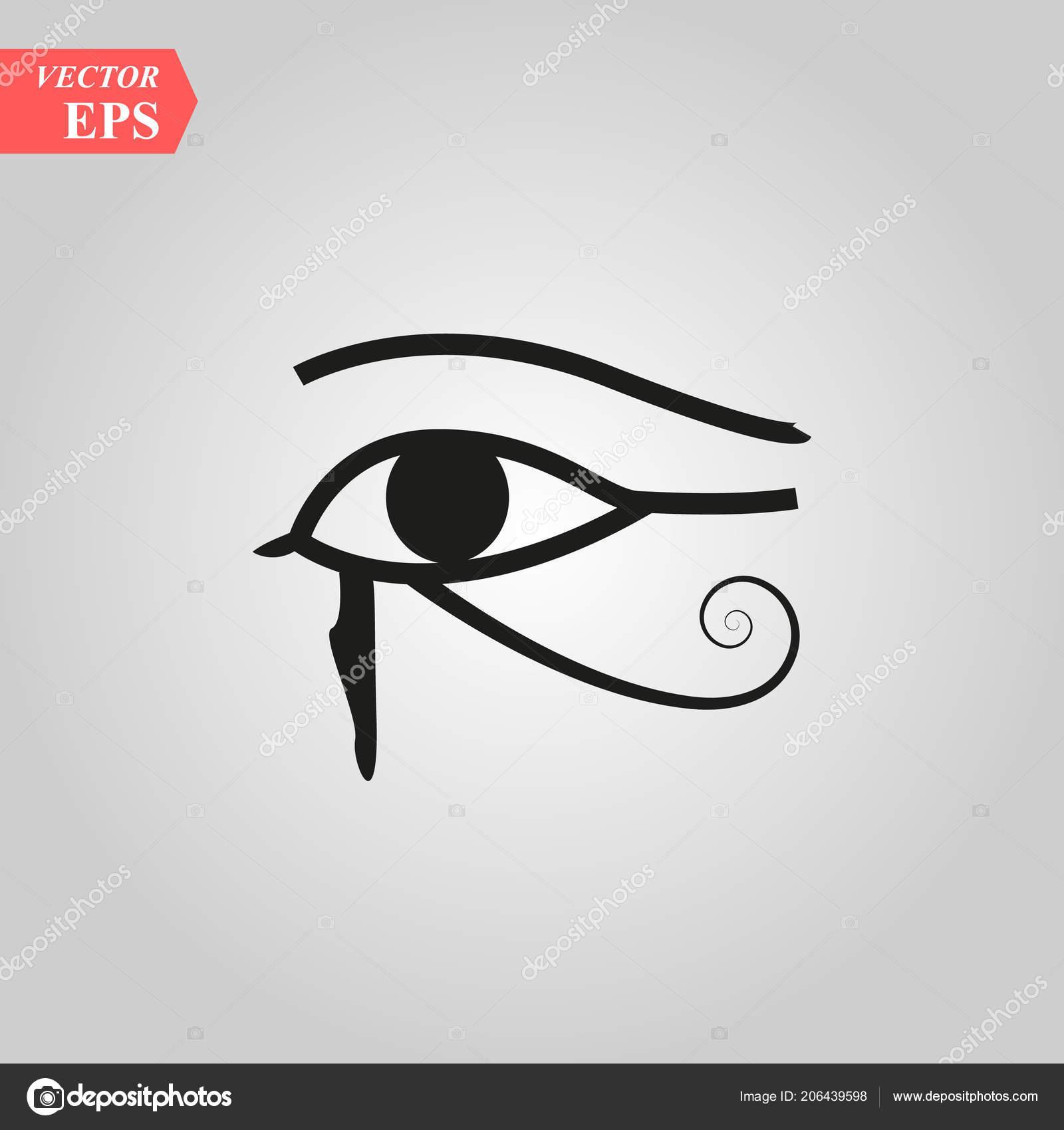 Sun Eye Horus Reverse Moon Eye Thoth Eye Horus Vector