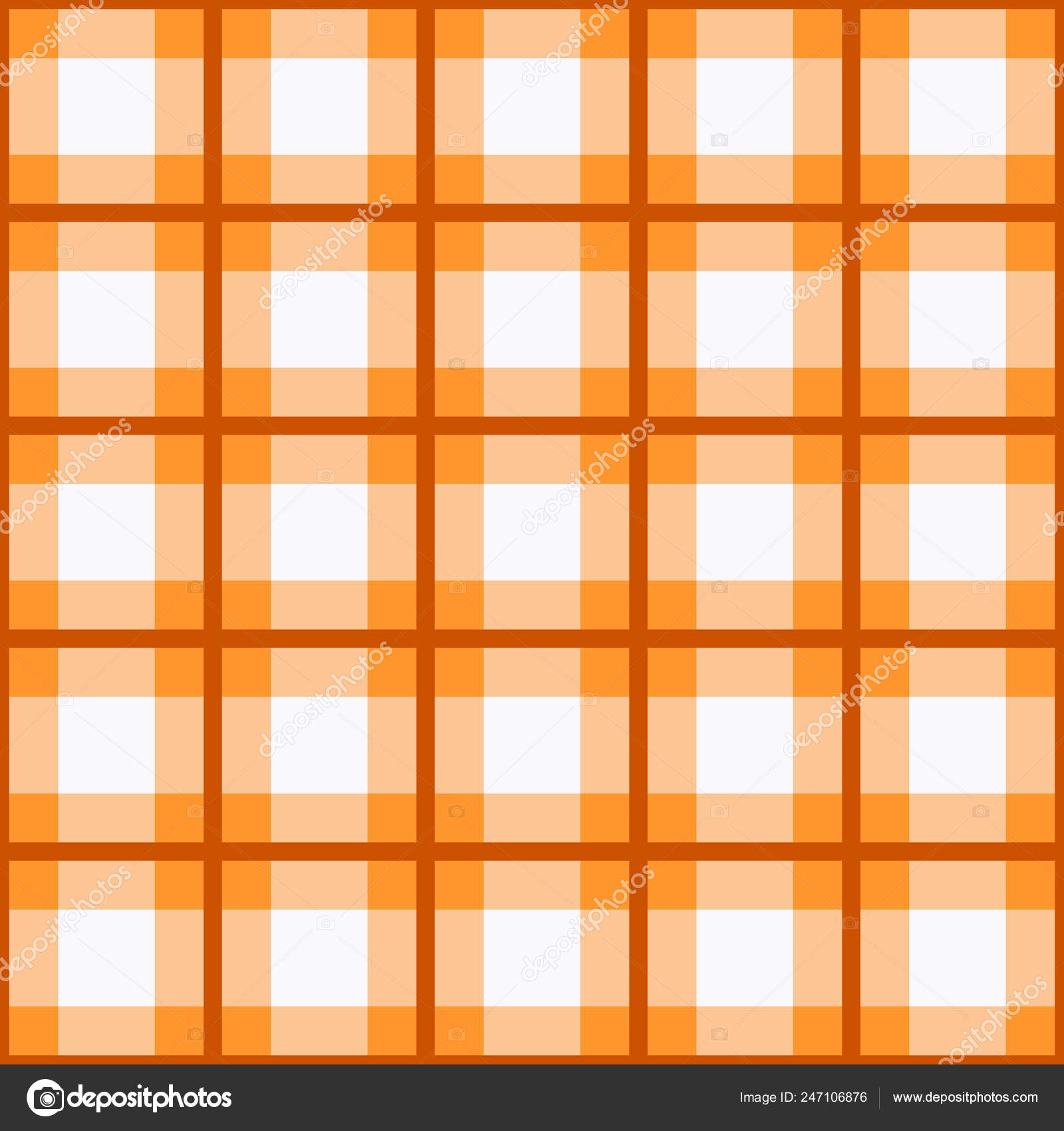 188b91ead5 Seamless tartan plaid pattern. Traditional checkered fabric texture in  palette of orange, yellow, and white. eps 10 — Vector by  elnourbabayev.gmail.com