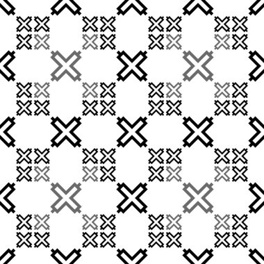 African Fence seamless motif. Africa mosaic background. Tribal wallpaper. Ethnical folk image. Ethnic ornament. Digital paper, web design, textile print, backdrop. Seamless vector artwork.