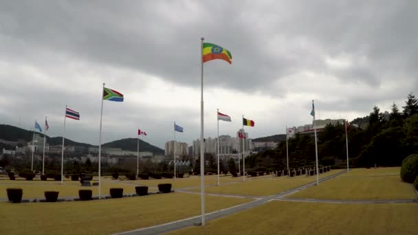 The UN Memorial Cemetery in Korea honors UN soldiers from 16 countries and UN aids from five countries that were killed in battle during the Korean War from 1950-1953
