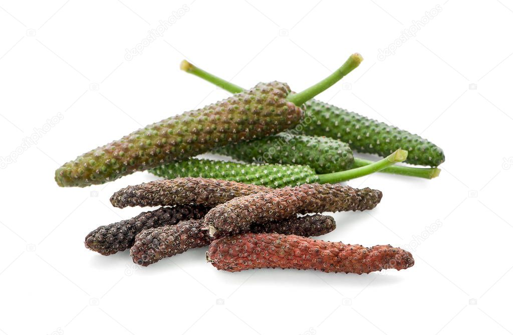 Long pepper isolated on white background