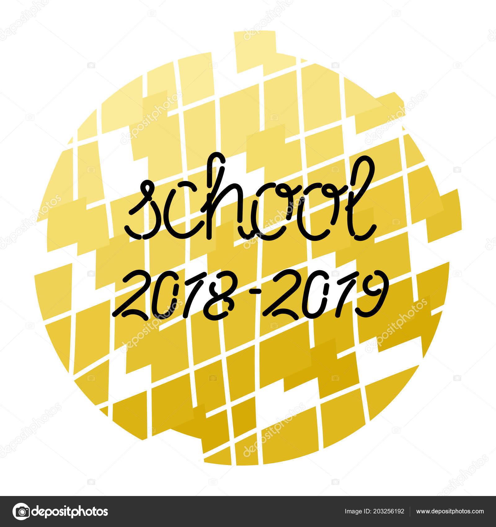 Inscription School 2018 2019 Background Fragmented Circle