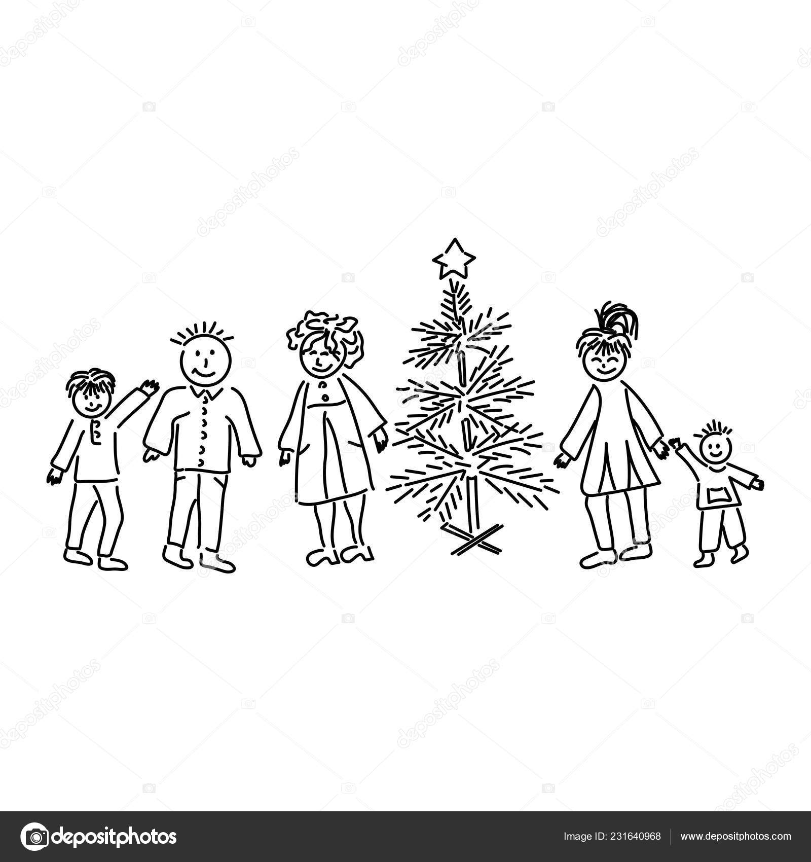 Children Tree Drawing The lines should curve toward each other slightly. children tree drawing