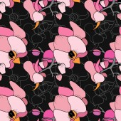 Seamless print of orchids.