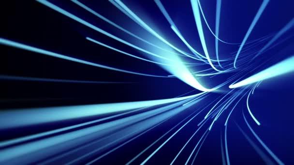 Pohybující se světlo pruhy. Bezešvá smyčka animace abstraktní pozadí