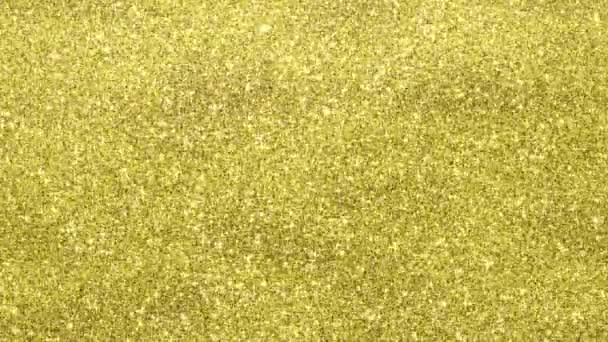 Golden glimmered background, seamless loop animation