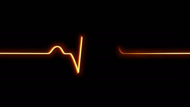 Heartbeat pulse background, seamless animation