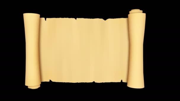 Vintage Rolle aus Pergament, isoliert
