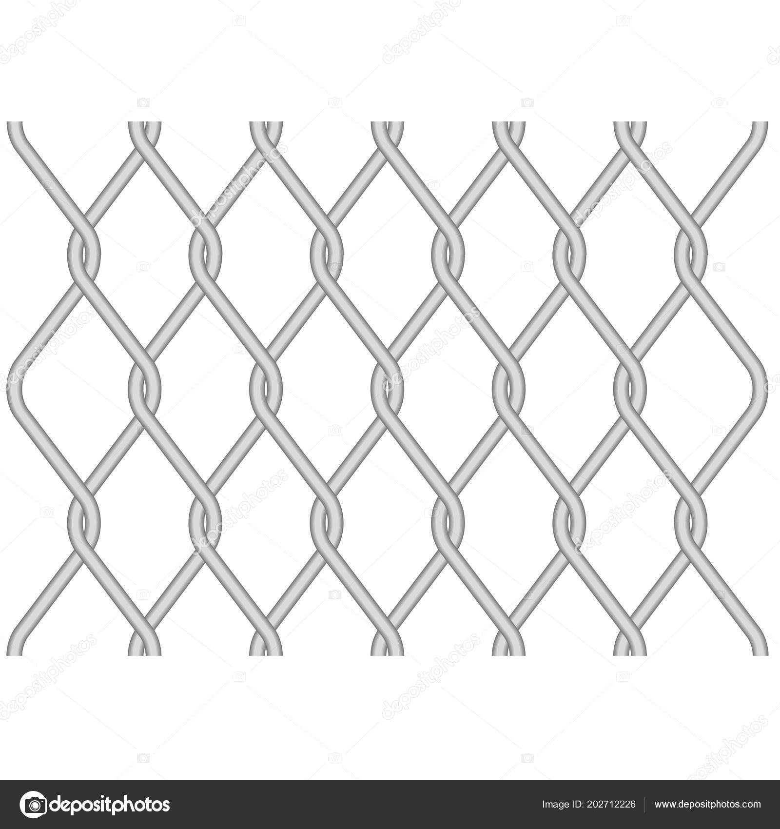 Rabitz Metallic Wire Mesh Pattern Twisted Wire Fence — Векторное ...