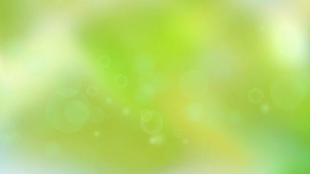 Schwebeteilchen. schönen hellen gelb-grünen abstrakten Hintergrund. nahtlose Schleife.