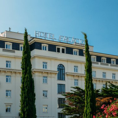 Front facade of the famous Hotel Palacio which was frequented by both German and Allied spies during WWII, as well as Ian Fleming, cerator of James Bond