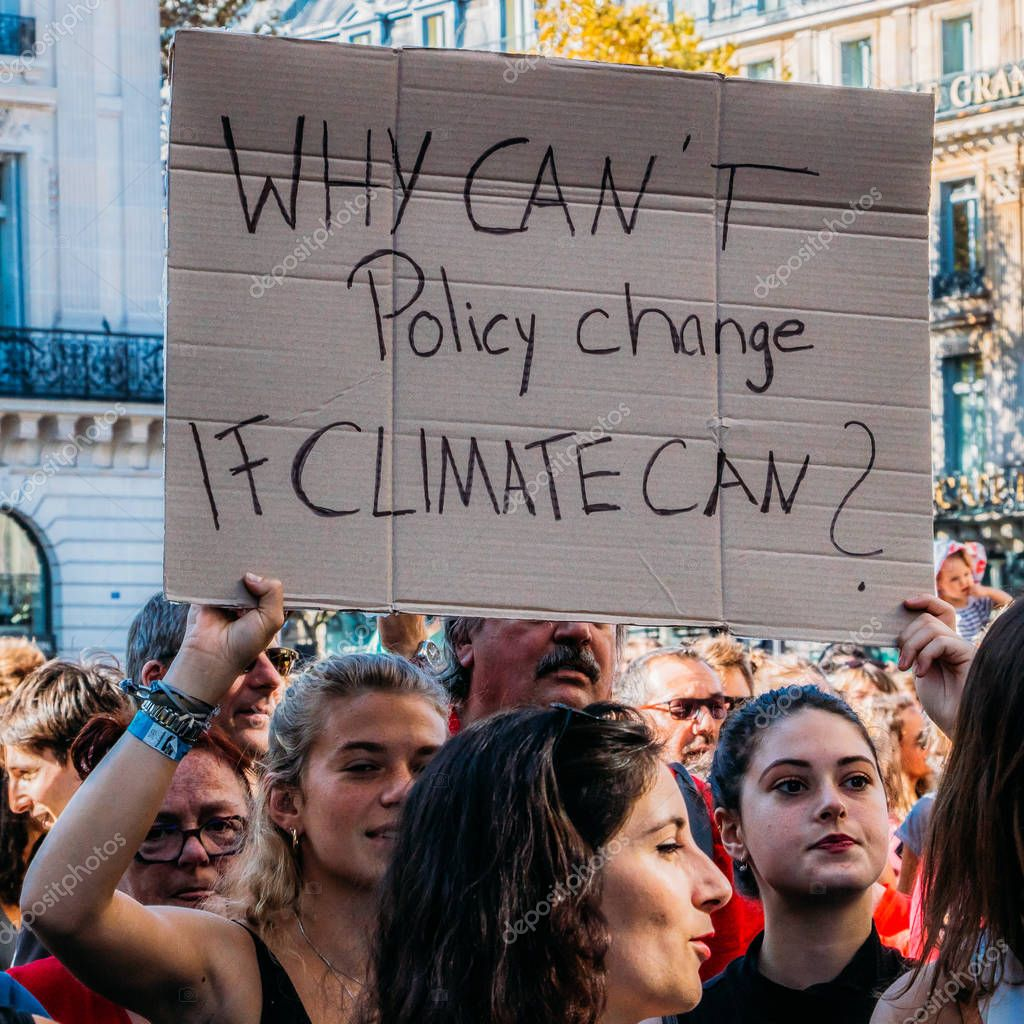 Tens of thousands of people marched in Paris to call for greater action on climate change