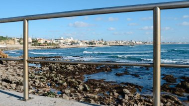 Frame of quaint town of Estoril on the Portuguese coast of the Atlantic Ocean