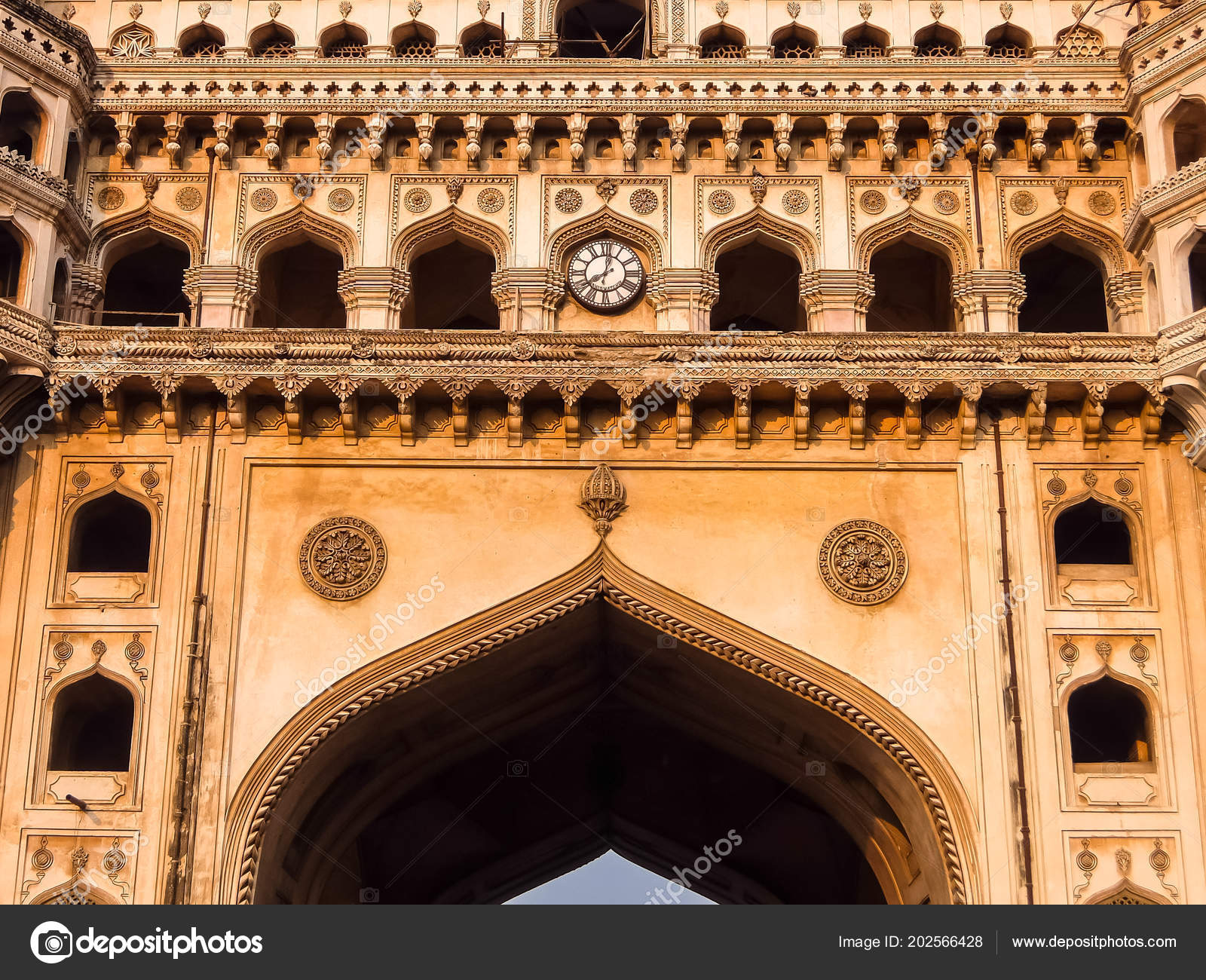 Architecture Charminar Four Minarets Constructed 1591 Monument Mosque  Located Hyderabad — Stock Photo