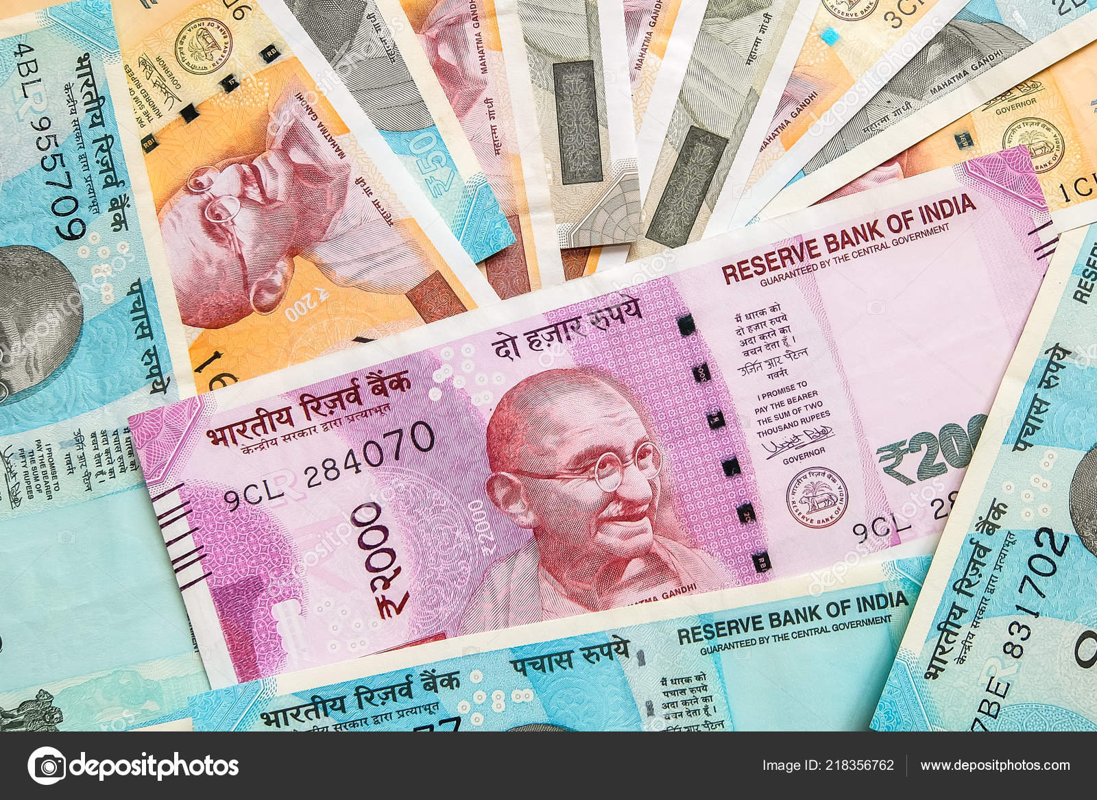 200 500 2000 Indian Rupees New Notes – Stock Editorial Photo