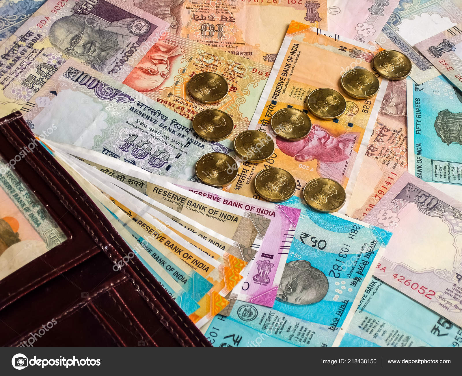 Wallet Indian Currency 100 200 500 2000 Indian Rupees Old