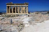 Griechenland, Athen, 18. Juni 2020 - Blick auf die archäologische Stätte der Akropolis, leer von Besuchern. Der Tourismus ist von allen wichtigen Wirtschaftssektoren am stärksten von der Covid-19-Pandemie betroffen, und das trotz der niedrigen Coronavirus-Rate und einer langen Liste neuer