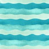 Akvarel modré vlny pro pozadí.