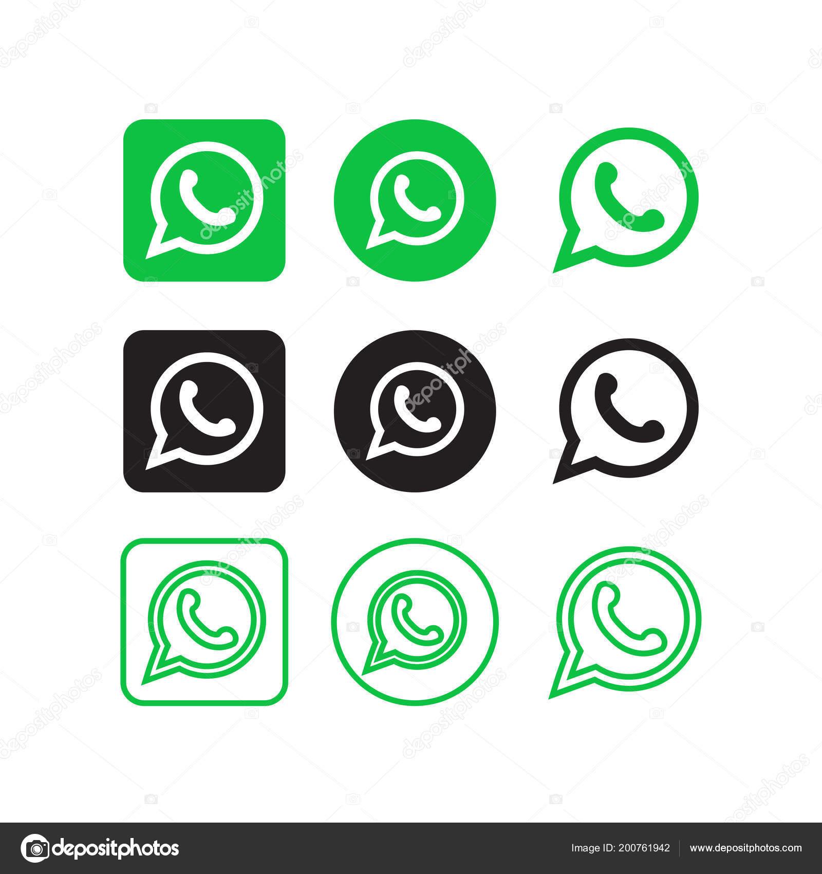 Colección Vectores Iconos Redes Sociales Whatsapp Vector De Stock