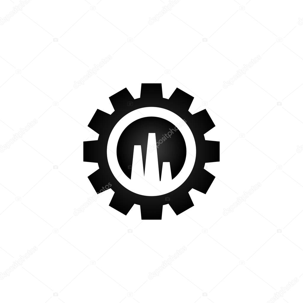 Illusration of industrial logo graphic template vector
