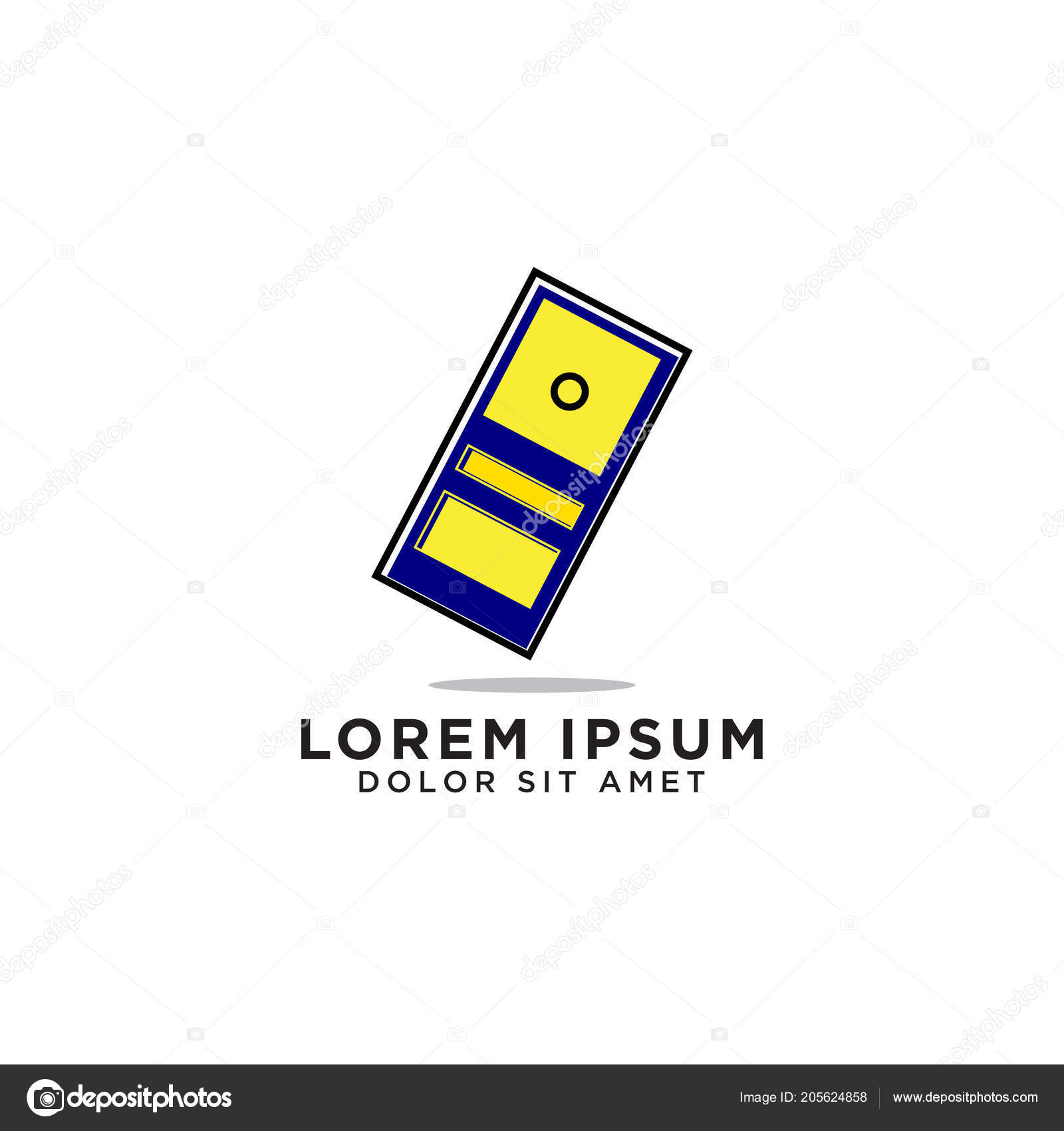 Illustration Door Logo Design Template Vector u2014 Stock Vector  sc 1 st  Depositphotos & Illustration Door Logo Design Template Vector u2014 Stock Vector ...