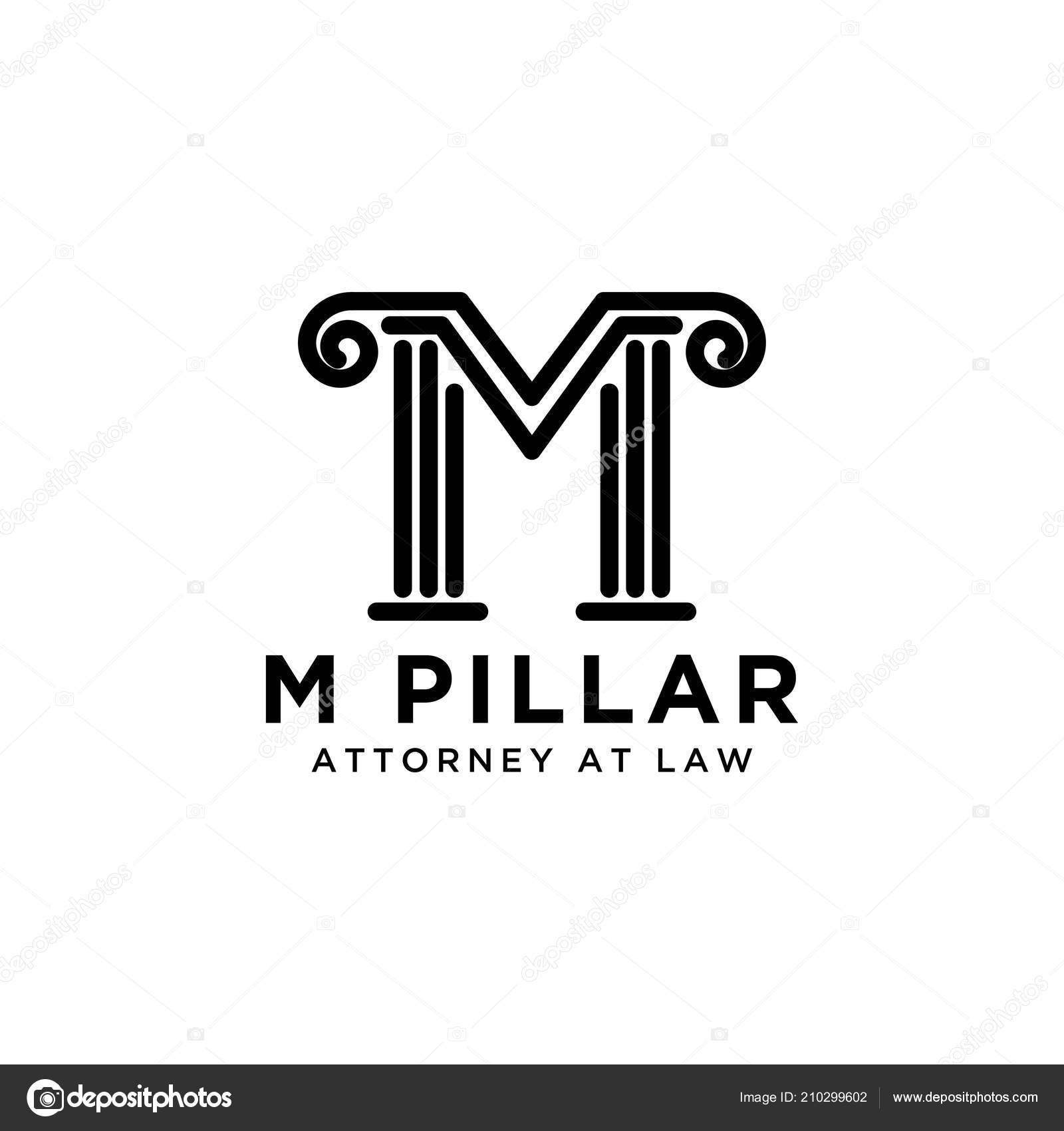 Création Logo Lettre Pilier Avocat Image Vectorielle
