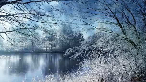 Ez video csíptet jellegét meghatározza a gyönyörű téli táj és a hóesésben