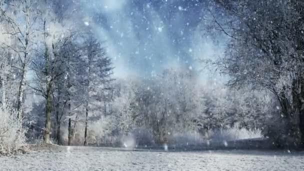 Zimní krajina pozadí animace