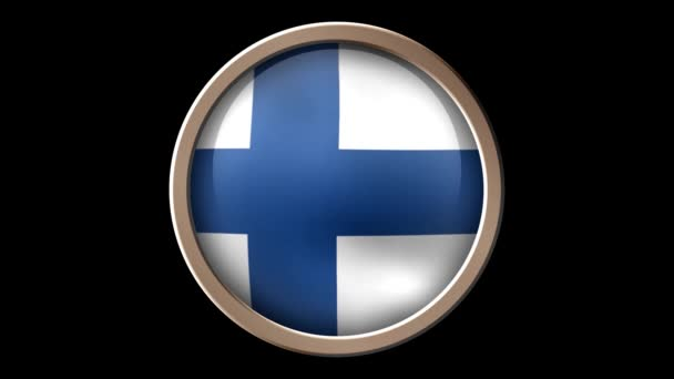 Animated Finland flag on the button. Seamless looping