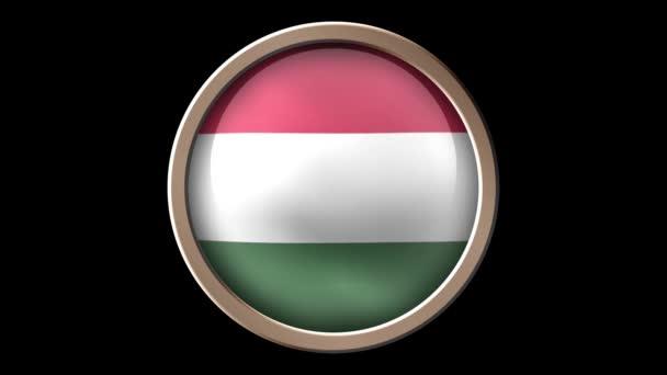 Magyarország jelző gomb elszigetelt fekete