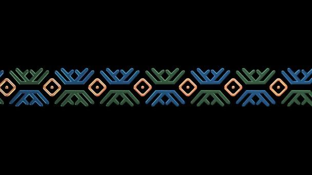 Color Khanty-Mansi ornament. Seamless looping. Luma Matte
