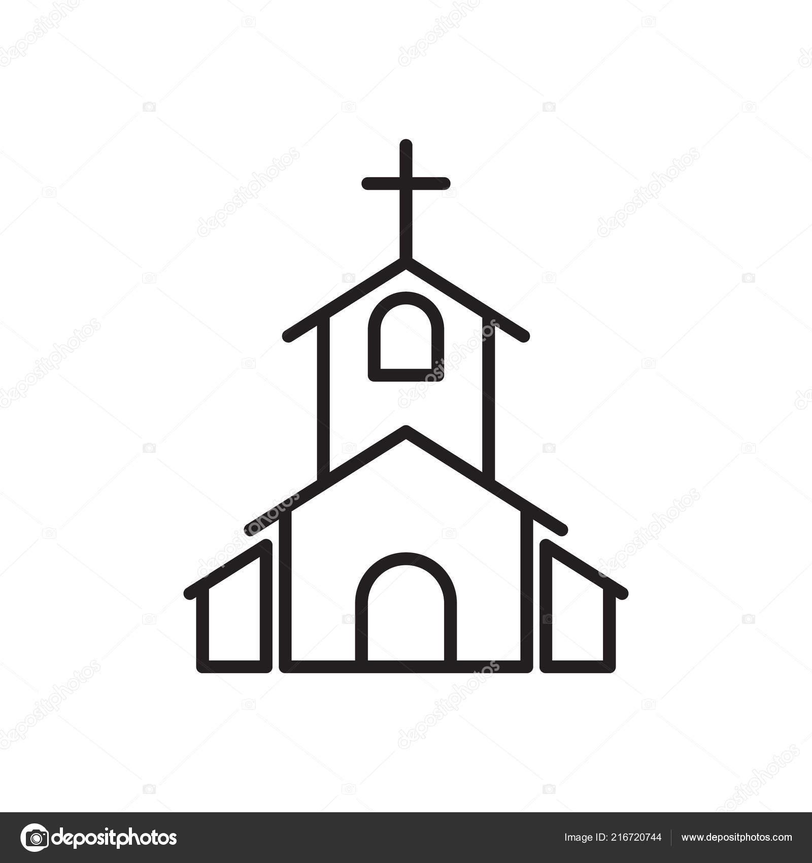 Kirche Symbol Liebhaber Symbol Hochzeit Elementsymbol Premium