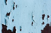 Fotografie close-up view of old scratched blue weathered wooden background