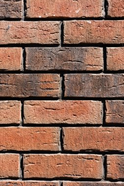 Close-up view of brown weathered brick wall background stock vector