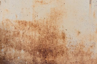 old grey scratched background with rust