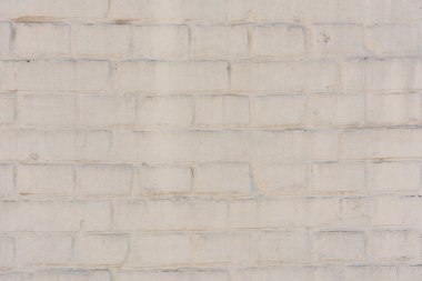 Empty white brick wall textured background stock vector