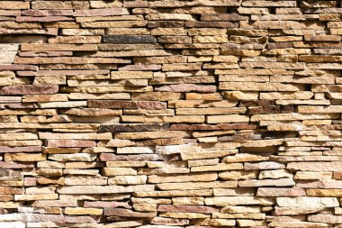 brown brick wall background, full frame view