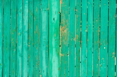 old scratched green wooden fence background