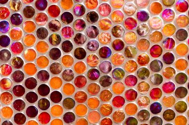 close-up view of beautiful colorful decorative mosaic tiles background
