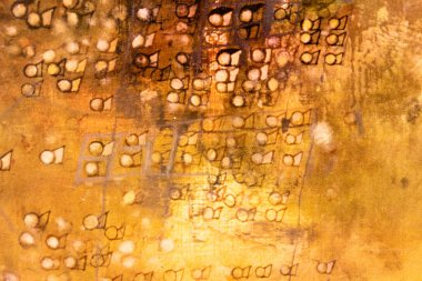 Close-up view of old brown rusty abstract textured background stock vector