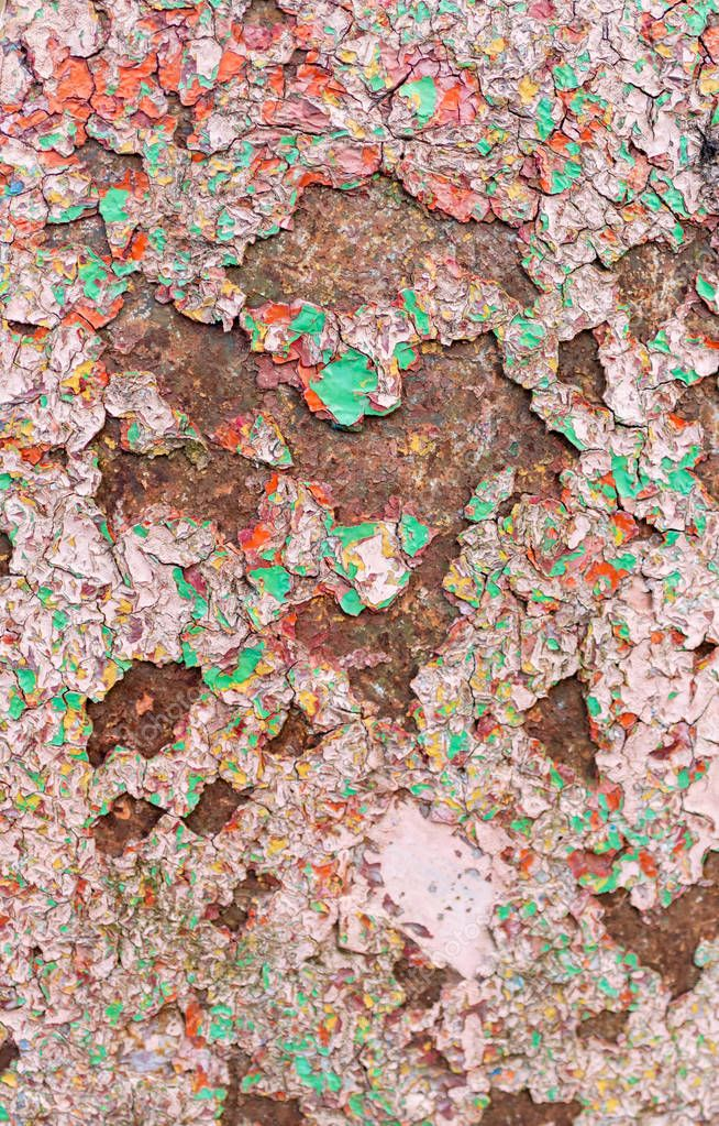 close-up view of old rusty weathered background