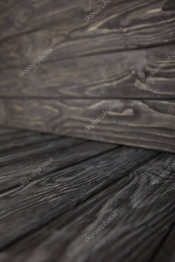 grey wooden floor and wooden wall