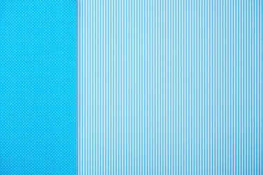 Abstract background with blue striped and polka dot patterns stock vector