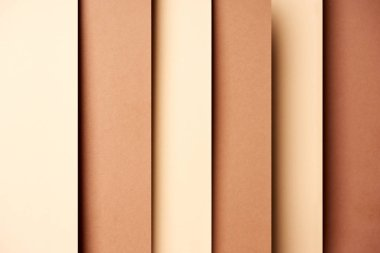 Abstract background with paper sheets in beige and brown tones stock vector