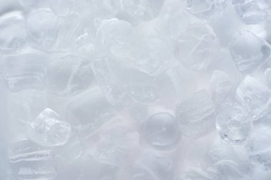 Close-up view of frozen ice cubes background stock vector