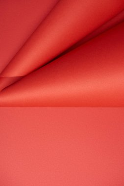 close-up view of abstract red creative paper background