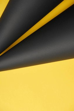 close-up view of abstract yellow and black detailed background